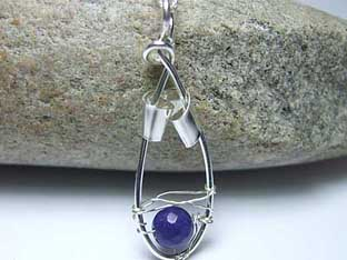 small sapphire and silver jewellery