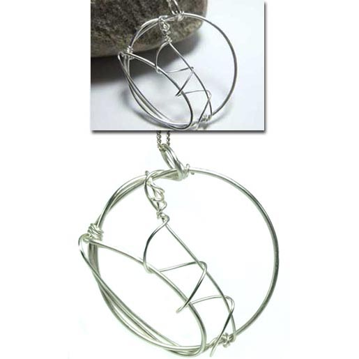 contemporary silver round  jewellery