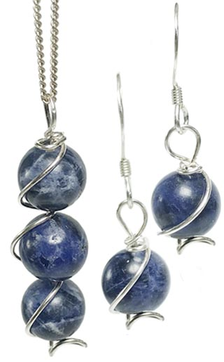 sodalite jewellery set