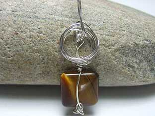 square tigers eye jewellery