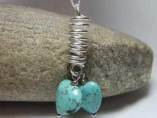 turquoise hearts jewellery