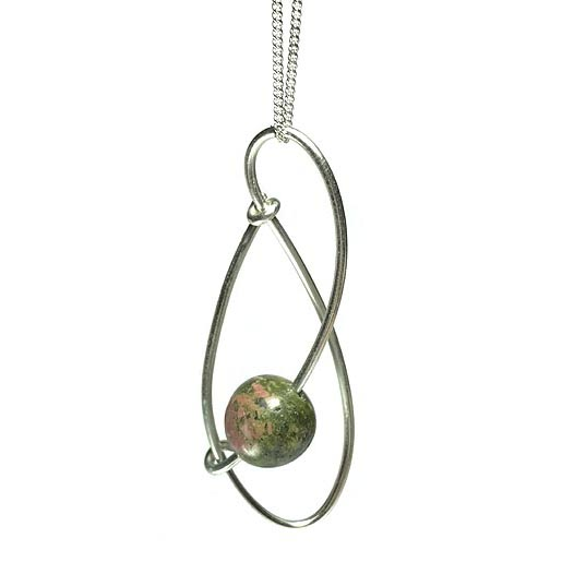 contemporary unakite jewellery